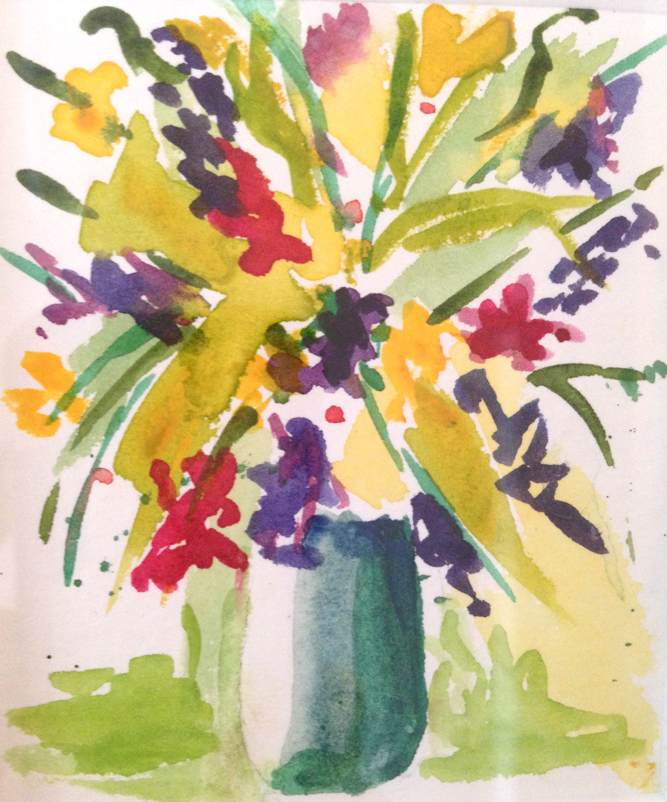 Bold And Beautiful Mini Floral Watercolor By Beth Carrington Brown
