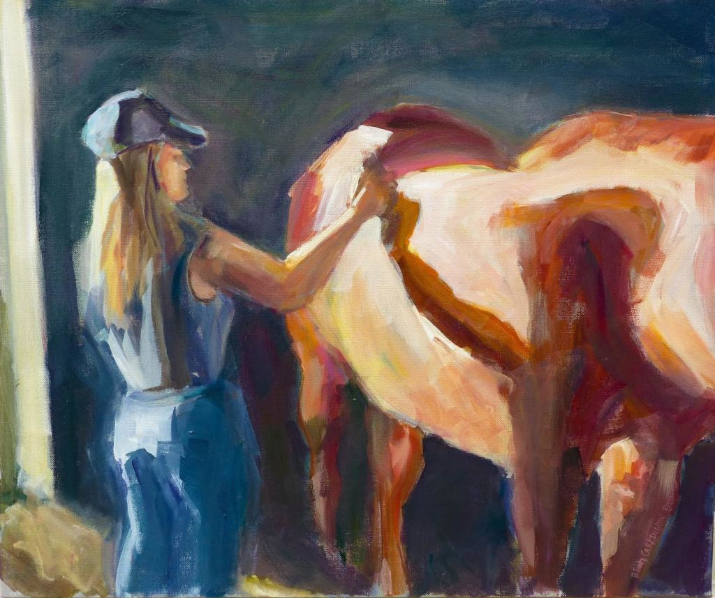 A Girl and Her Horse,  20 x 24, 450.00